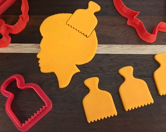 Afro Comb cookie cutter