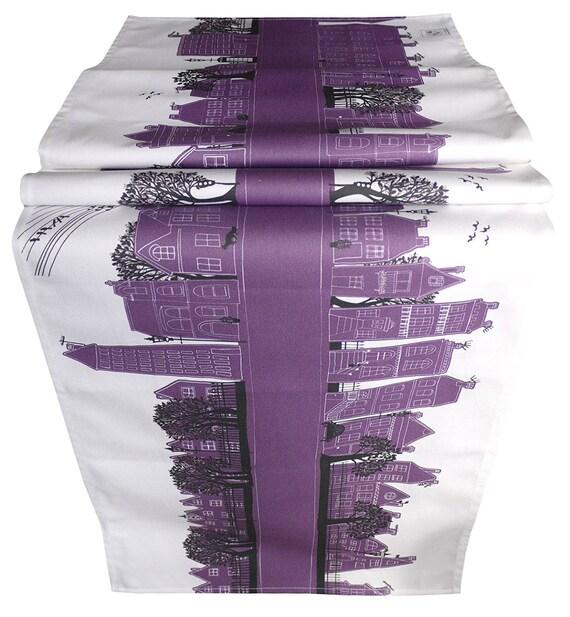 Purple table runner Mauve Table linen Monochrome table decoration