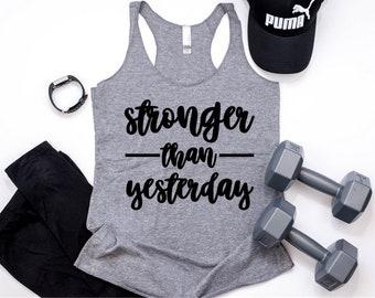 8424d6b3937863 Stonger Than Yesterday Tank   Workout Shirt   Workout Tanks   Gym Tanks   Funny  Workout Shirt   Funny Workout Tank   Workout Tanks For Women