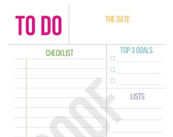 Daily To Do List - Planner Pages - Pick Your Pages - Combine to Customize Your Dream Planner - Printable PDF Instant Download
