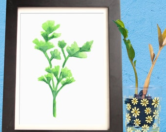 Parsley Watercolor - Digital Download