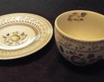 Vintage Johnson Brothers * FRUIT SAMPLER * Cup & Saucer Set