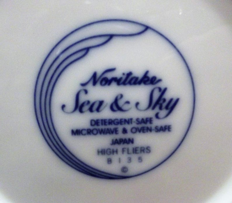 Sea /& Sky *-* HIGH FLIERS 3 Piece Set or Individual Noritake B135 *-* Coupe SoupCereal Bowl