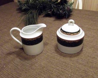 Mikasa *-* PAISLEY CLASSIC *-* Creamer & Sugar Bowl w/Lid, Set of 2 or Individual