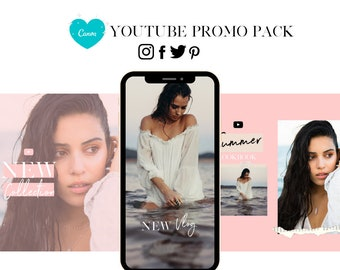 YouTube Promo Social Media Posts | Instagram, Facebook, Twitter, Pinterest