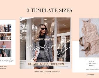 Fashion Social Media Posts | Canva Templates | Instagram Stories, Pinterest, Facebook