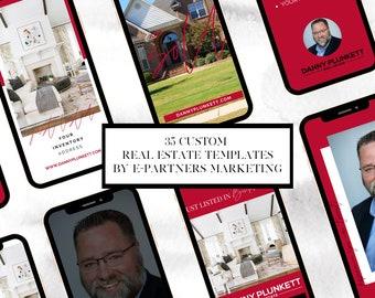 50 Custom Real Estate Social Media Templates | Canva Templates | Instagram, Facebook, Twitter, Pinterest