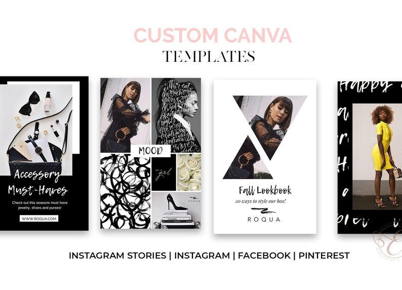 50 Custom Canva Social Media Posts for Instagram Facebook image 0