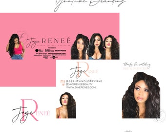 YouTube Banner, YouTube Channel Art,  Banner, Watermark and End Slate with Pictures