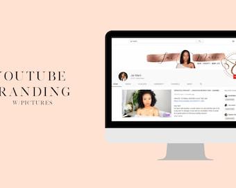 Custom Listing for Jine'Ya, YouTube Banner, End Slate, Watermark, YouTube Intro
