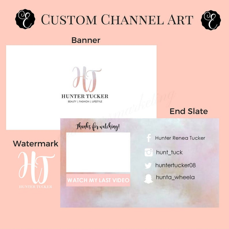 YouTube Banner  Channel Package  Banner Watermark and End image 0