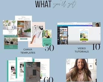 Real Estate Bundle Social Media Posts,  Branding Pack, Instagram Posts,  Lead Magnets