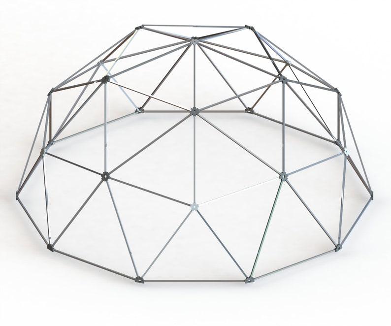 Aluminum Geodesic Hammock Dome 2V MFG by Thunder Domes 18ft Dia