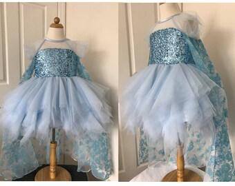 2019 New Elsa Dress Costume Princess Inspired Frozen Elsa Costume For Girls  Toddler