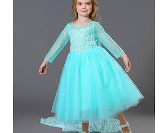 Elsa Dress Elsa Costume Toddler Disney Princess Frozen Elsa Snow Queen  Dress Costume For Girls Toddler(included Cape)