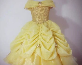 a8f03521caf Luxury Belle costume belle dress belle beauty and beast Disney princess  belle princess dress for girl and toddler