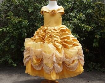 Girls Belle Dress Etsy