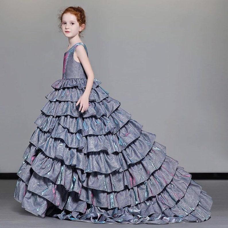 Abito di sfera per ragazze fiore ragazza vestito abito da sera  644c9a5713d