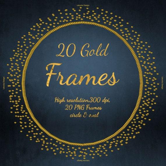 fbbbd5e13084 Circle Oval Gold frames Glitter Clipart Digital Gold frames