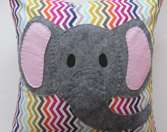 Rainbow Elephant Pillow