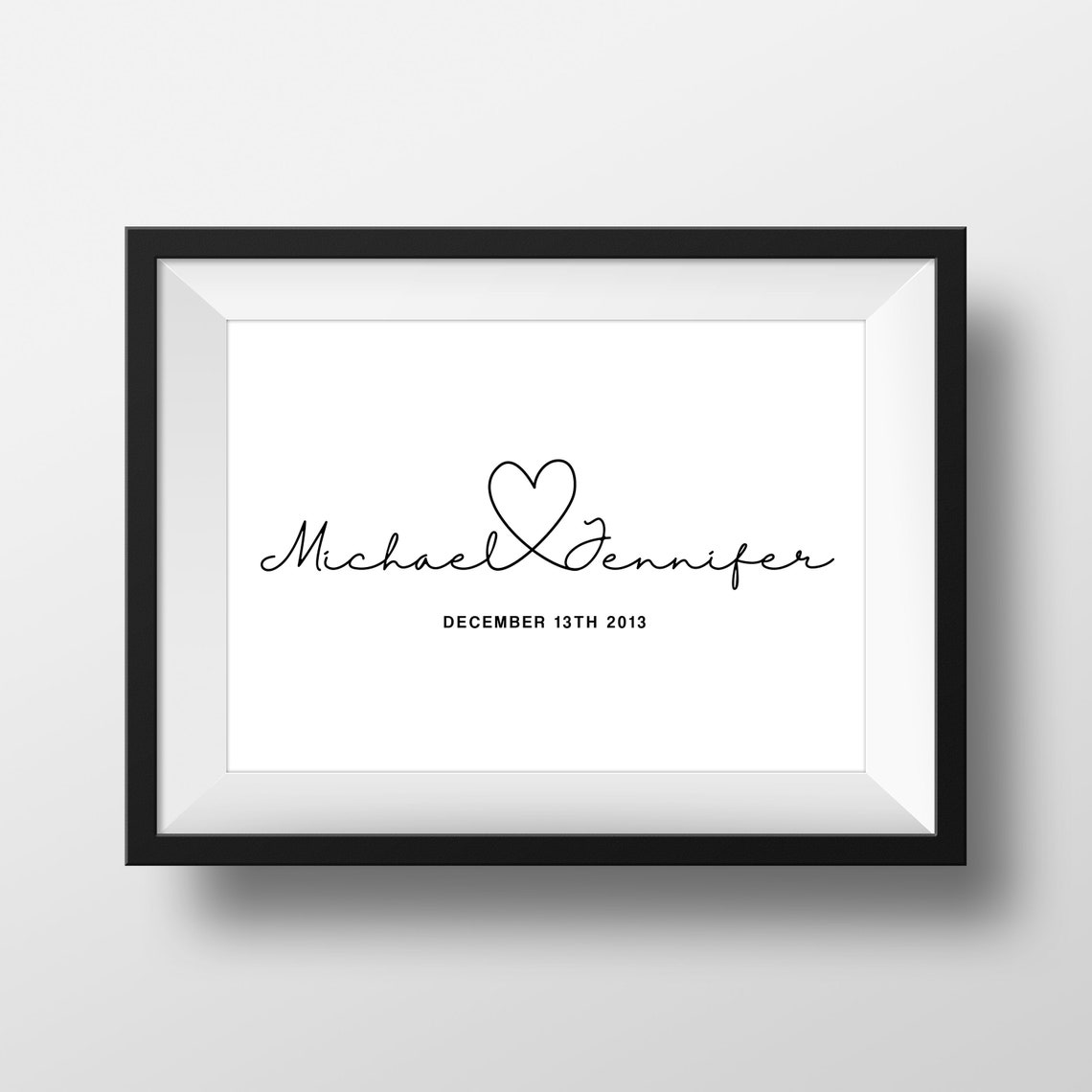 Personalised wall art print