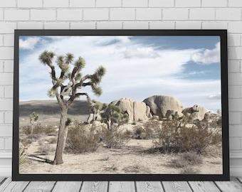 Joshua Tree Art Print, Joshua Tree, Desert Print, Desert Art, Cactus, Cactus Art, Cactus Print, Printable Digital Download, Photography