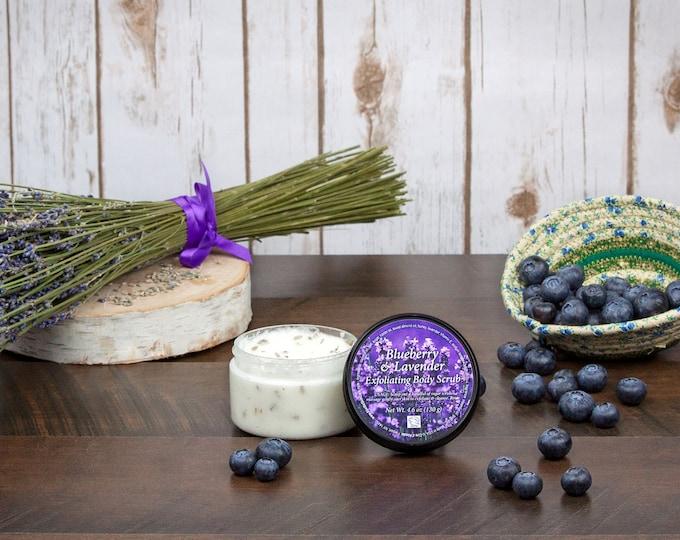 Blueberry & Lavender Exfoliating Body Scrub by Cire d'Abeille® Skin Care - Gluten Free