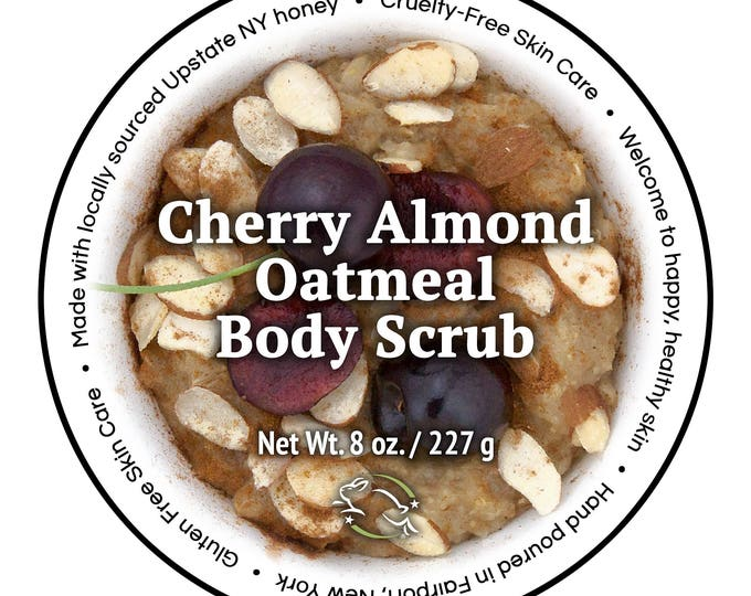 Cherry Almond Oatmeal Body Scrub by Cire d'Abeille® Skin Care - Gluten Free