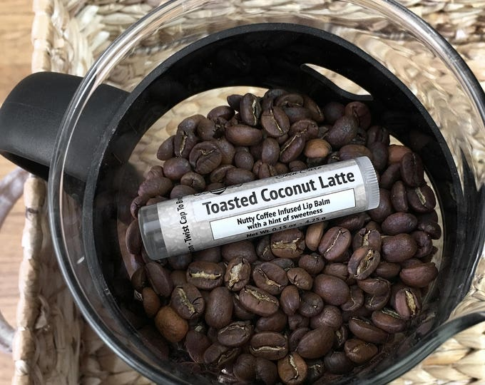 Featured listing image: Toasted Coconut Latte coffee infused lip balm - Gluten Free