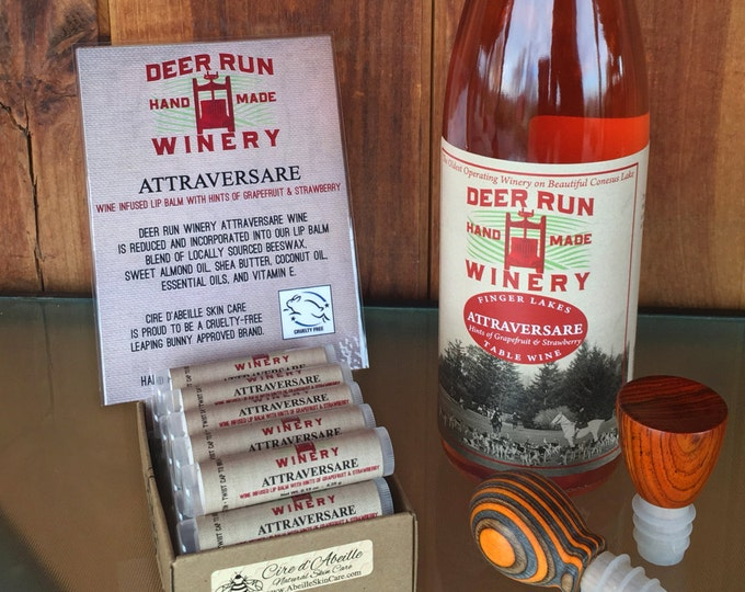 Deer Run Winery Attraversare wine infused lip balm by Cire d'Abeille® - Gluten Free