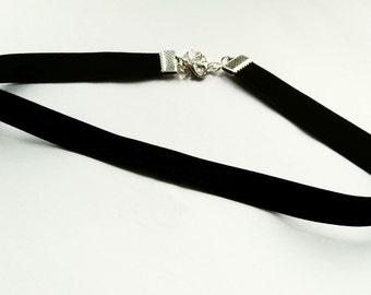 Black velvet choker, black choker, 90s choker, black choker necklace, velvet choker necklace, 1 cm, 3/8 inch choker