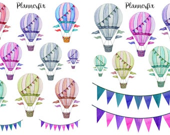 Hot Air Balloons. Stickers