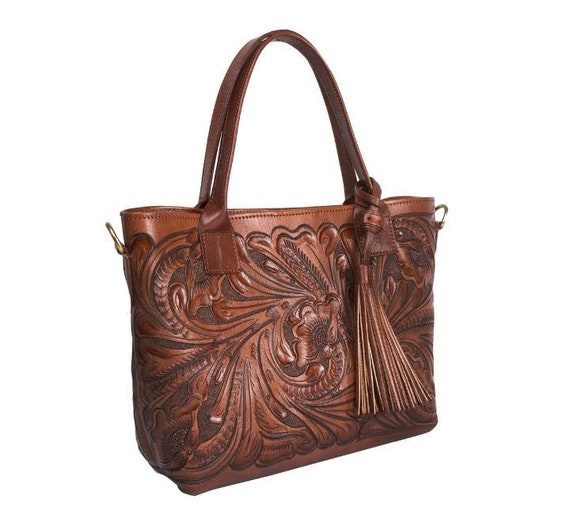 Hand tooled leather bag crossbody tooled bag leather carved etsy jpg  570x530 Purse mexican carving tooled 2b8034311a710