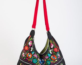 Mexican Bag/Mexican Embroidered Bag/Puebla Embroidered/Mexican Dress Purse/Boho Embroidered Bag/Bohemian Bag/Frida Bag/Huipil/Mexican Style