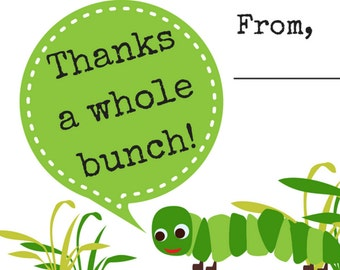 Thank You note stationery for young children, printable