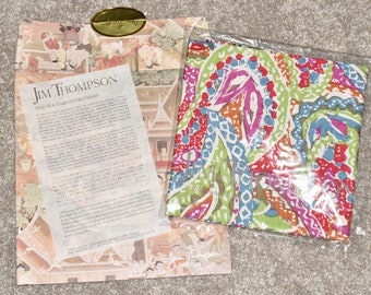 Gorgeous Jim Thompson Abstract Paisley Thai Silk Scarf Unworn w/ Packaging