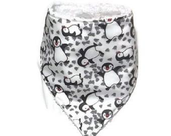 Bavoir bandana pingouin