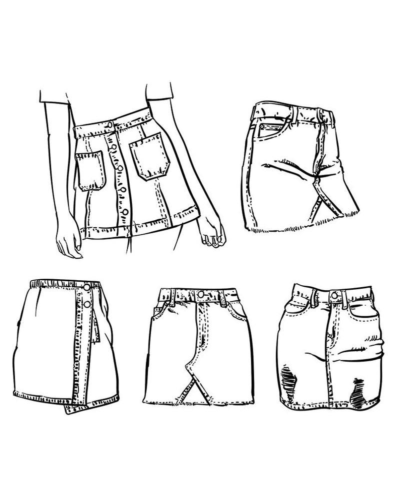 Skirt Drawing