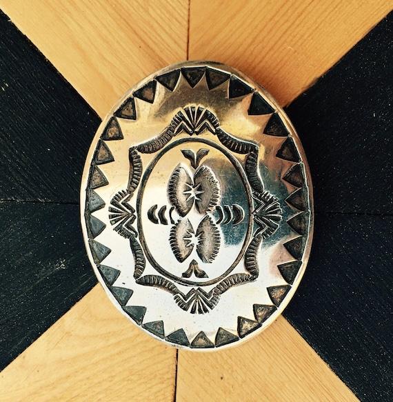 Sterling Silver Native American Tie Bolo   Navajo