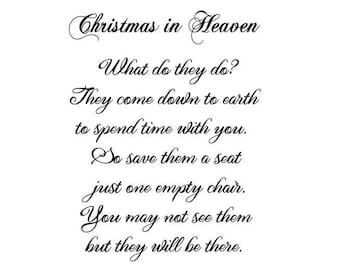 christmas in heaven heat transfer diy pillowcase in memoriam holiday ready to press