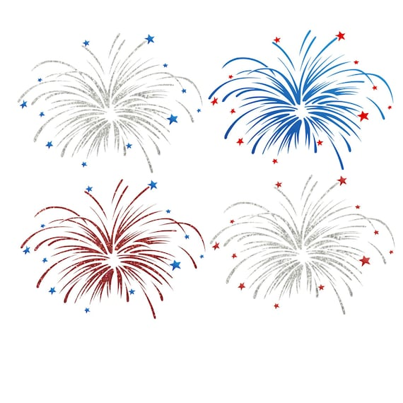 Fireworks Cut File 4th Of July Svg Cut File Cutting File Etsy