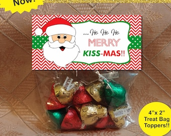 Christmas Treat Bag Toppers Christmas Treat Bags School Kids Classroom Christmas Party Kids Christmas Party Diy Printable Christmas