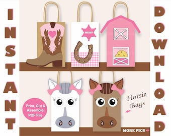 Cowgirl Favor Bags Birthday Party Supplies Goodie Invitations Favors Goody