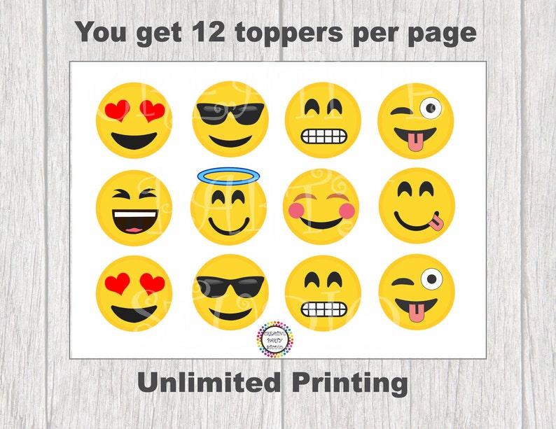DIY Emoji Party Cupcake Toppers Emojis Birthday