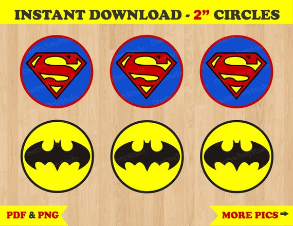photo relating to Printable Superman Pictures titled Printable--\u003e Superman/ Batman Birthday Get together Cupcake Toppers/ Stickers/ Labels/ Favors/ Tag/ Tags/ Emblem/ Fiesta/ Decoration