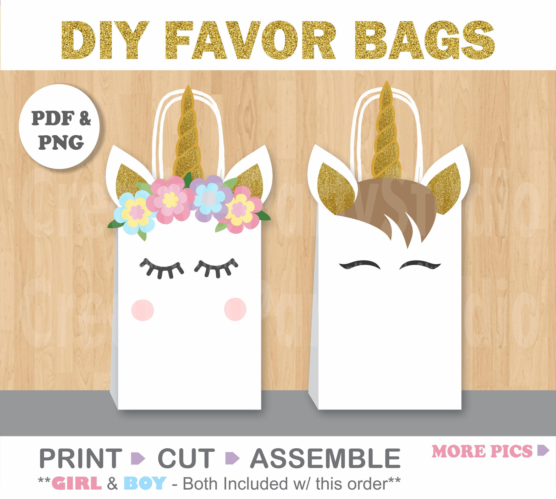 Unicorn FAVOR BAGS/ Unicorn Birthday/ Unicorn Party Supplies/
