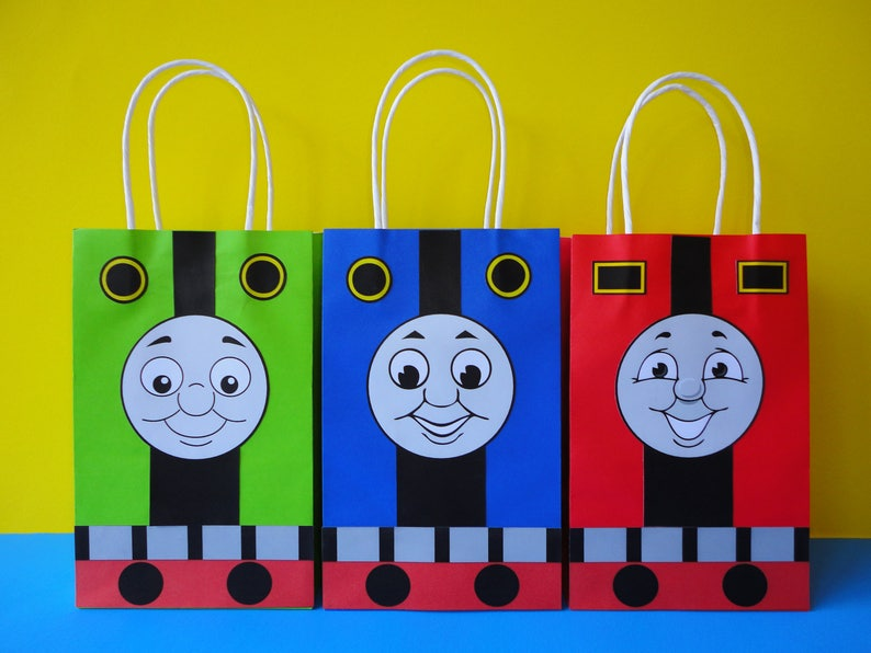 DIY Train Party Favor Bags Printable Template