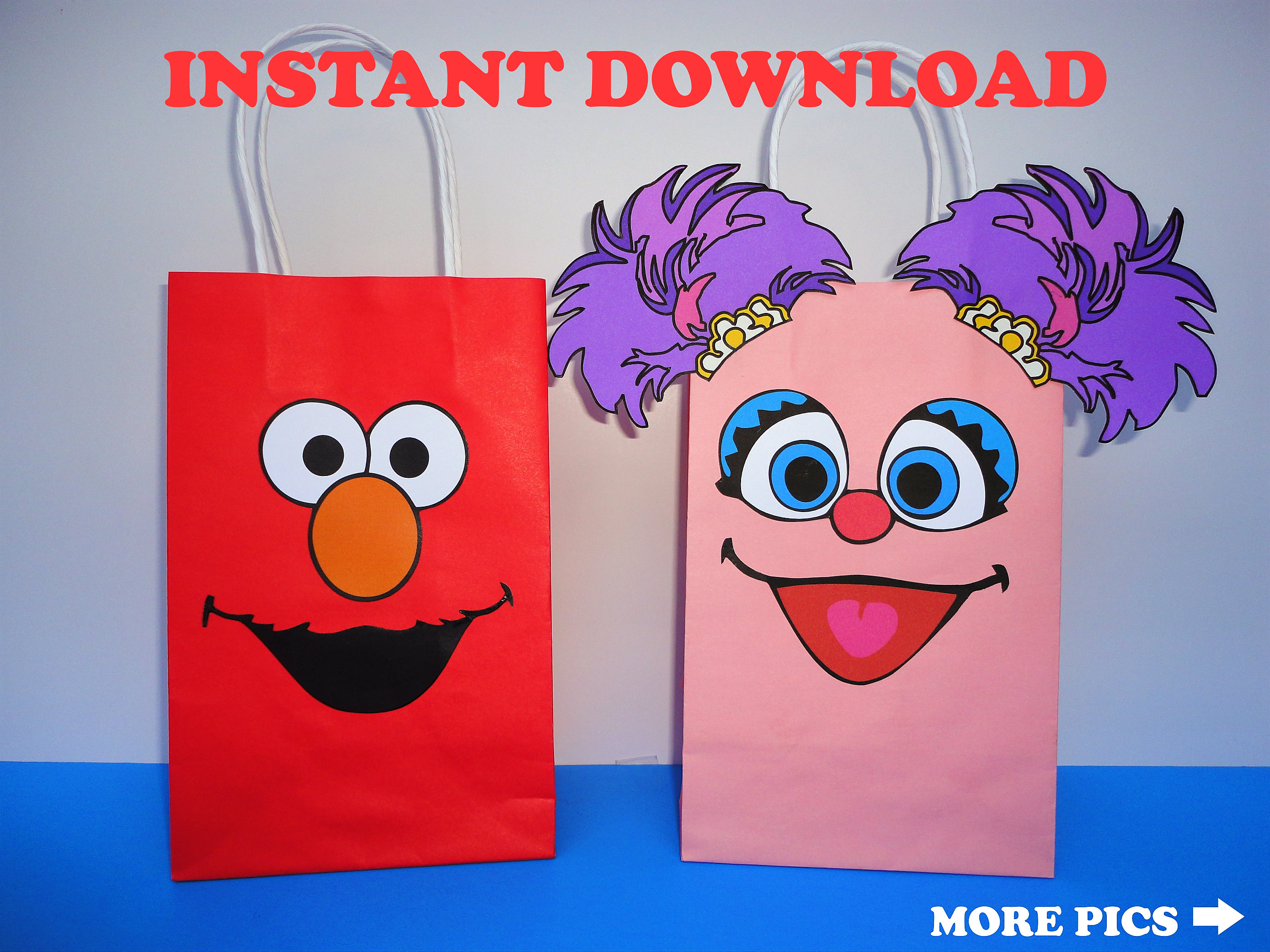 Elmo And Abby Cadabby Party Favor Bags Elmo Abby Cadabby Etsy