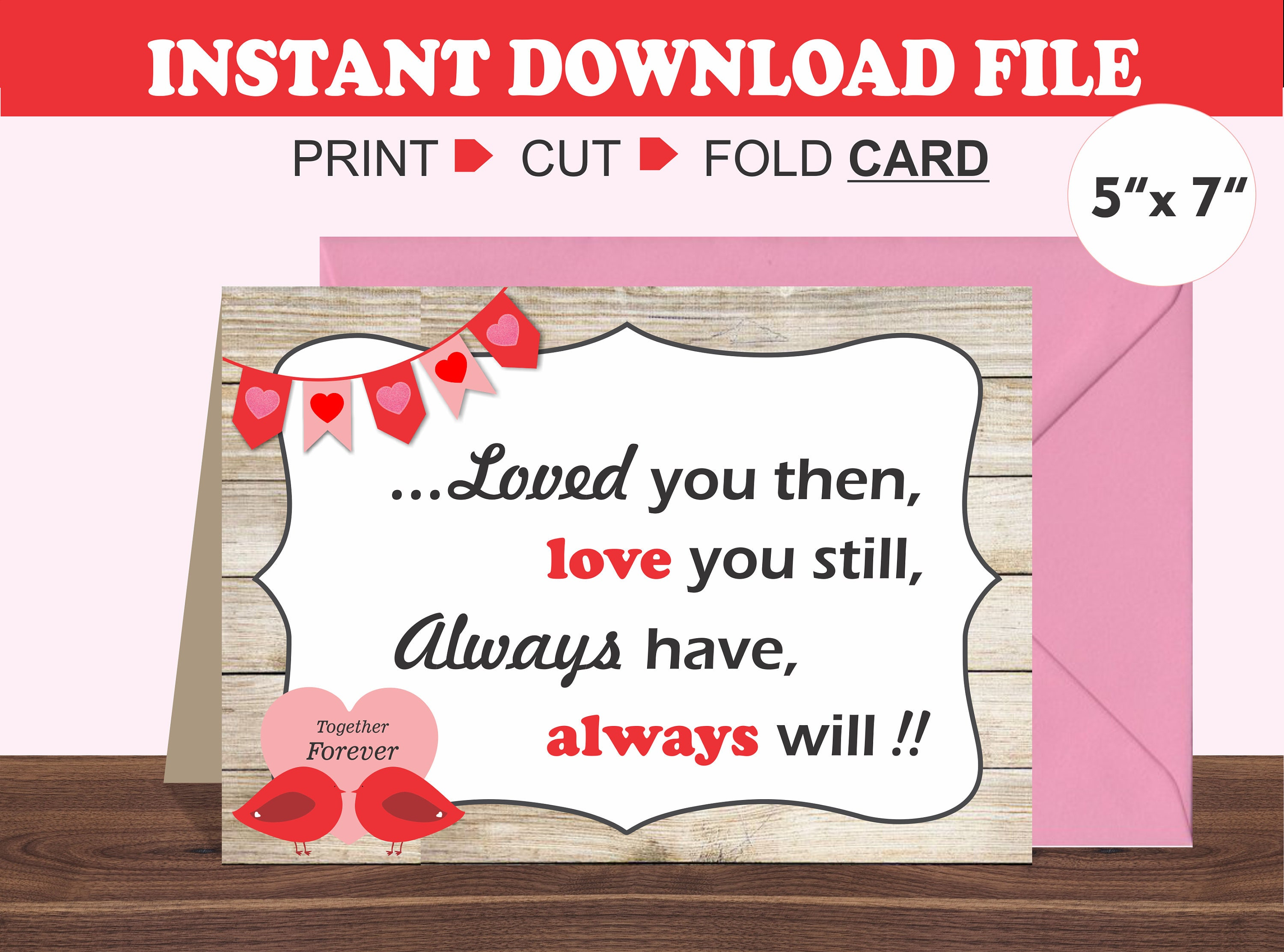 It is an image of Persnickety Printable Valentines Day Cards for Husband