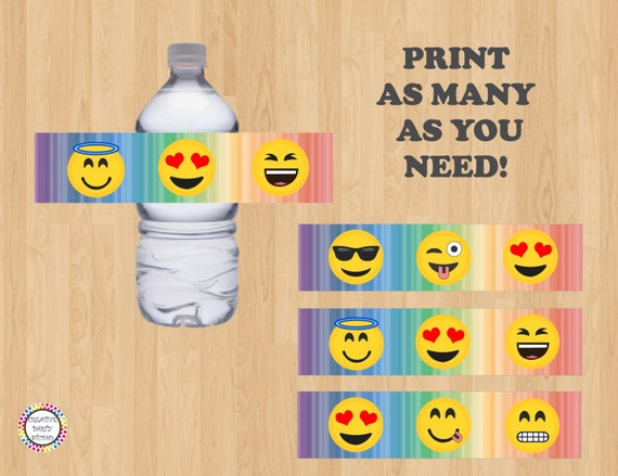 picture about Printable Emoji Stickers identified as Printable--\u003e Emoji H2o Bottle Labels/ Label/ Stickers